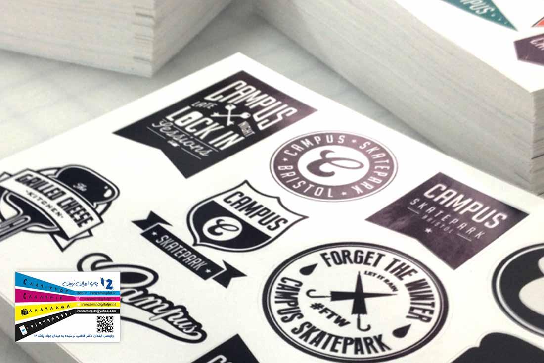 ویژگی و انواع چاپ استیکر